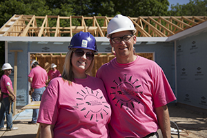 Inspirus builds Habitat home for one of their own